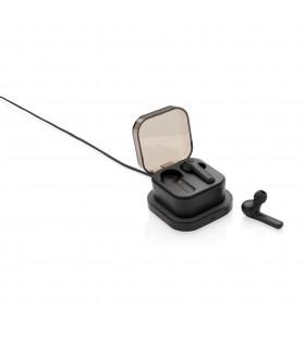 Auriculares TWS en caja de carga inalámbrica